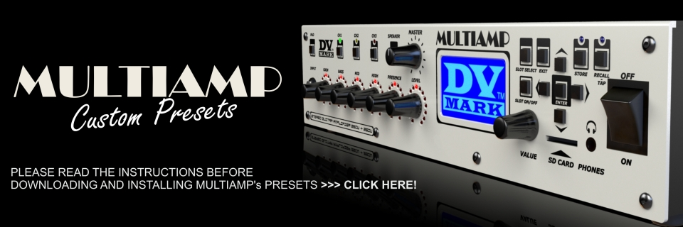Multiamp Presets Instructions